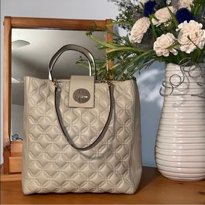 Kate Spade Leather Quilted Tan Tote